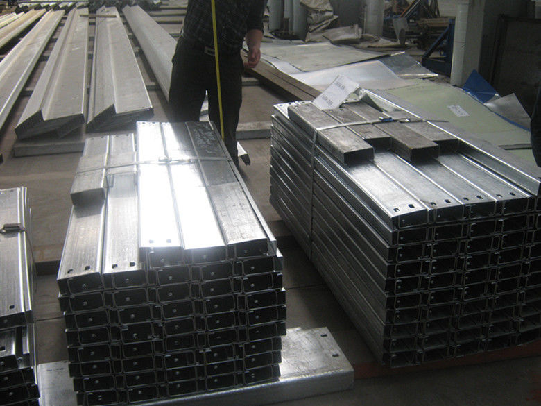 Steel Frame Building Galvanized Steel Purlins For Support