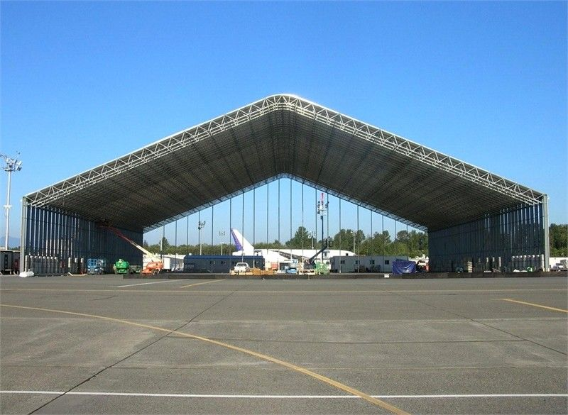 Dip galvanized steel aircraft hangar buildings durable for Aircraft hanger designs