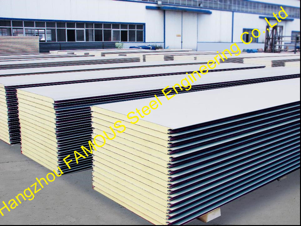 Metal Building Insulation Panels : Warehouse metal roofing sheets polyurethane panel heat