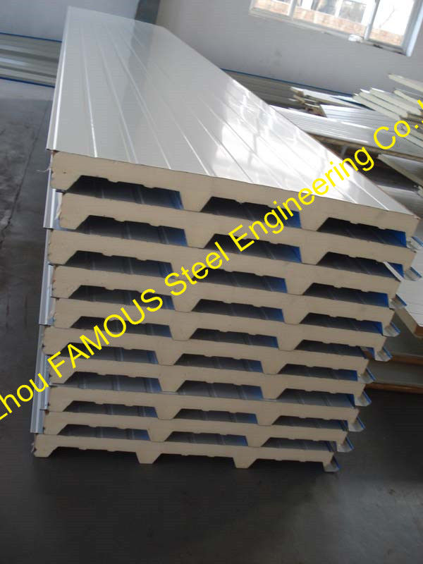 50mm Pu Sandwich Wall Panels Thermal Insulation Prefab House