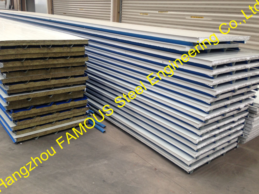 Industrial Metal Building Sandwich Panel : Construction pu insulated sandwich panels polyurethane