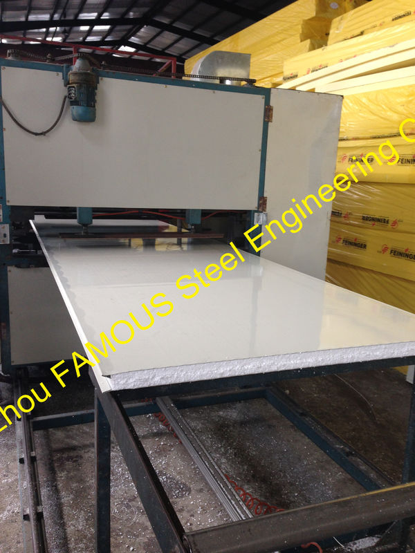 Sandwich Panel Cladding : Glass insulated sandwich panels heat resistant for cladding