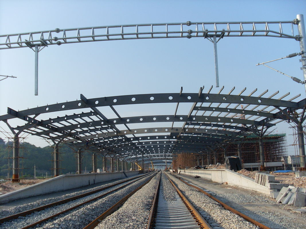 Structural Steel Framing : Railway station structural metal truss buildings rust