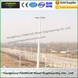China Monopole And Lattice Tower Pole Steel Frame Buildings For Wind Power Tower factory