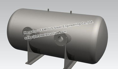 China Stainless Steel Industrial Steel Buildings Water Control Horizontal Bright Tank factory