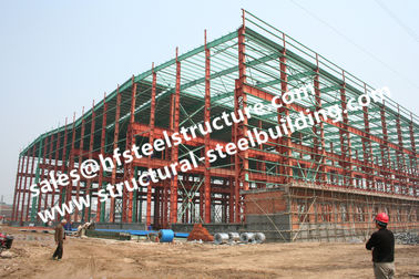 China Pre Painted Industrial Workshop Steel Frame Buildings S235JR Columns Frames factory