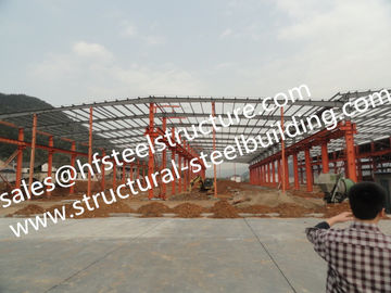 China Steel Framed Buildings /  Industrial Steel Buildings For Steel Warehouse And Showroom factory
