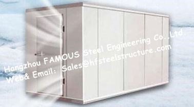 China Prefab Walk in Freezer Units Cold Room And Walk In Cooler Box  with Metal Camlock Panels For Poultry factory