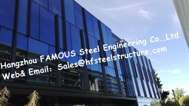 China Q235 / Q345 Steel Prefab Buildings / Multi Storey Steel Structures NZ Standard factory