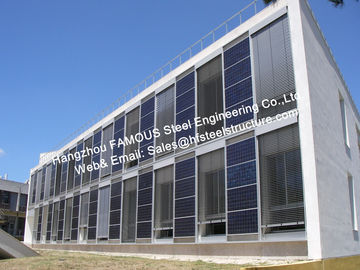 Solar Building-Integrated PV (Photovoltaic) Façades Glass Curtain Wall with Solar Modules Cladding
