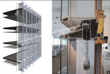 Double-Skin-Façade Glass Curtain Wall System with thermal insulated and laminated glass