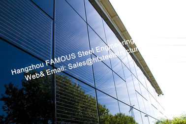 China Integrated Photovoltaic Fatades Solar Modules Glass Curtain Wall with Single Crystal Component factory