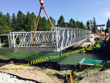 China Customized Steel Bailey Bridge Portable Modular Structural Steel Bridge factory