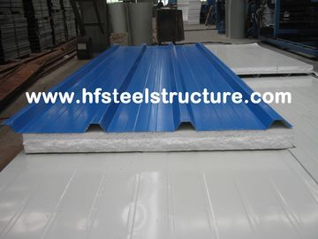 China Color Steel Metal Roofing Sheets Sandwich Panel With 0.3 - 0.8mm Thickness factory