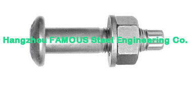 China Plain , Black , Zinc-Plate Screw Bolt Steel Buildings Kits With Hop Dip Galvanizing factory