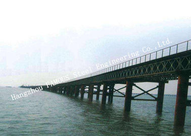 China Multispan Single Lane Prefabricated Bailey Steel Bridge Construction Assembly factory
