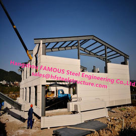 China Prefab House Light Steel Villa Prefab Metal Buildings With Welded Frame factory