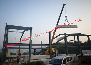 China Prefabricated Q345B Column Industrial Metal Buildings With FASEC Prefab - I Panel Cladding For Warehouse factory