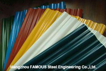 China Galvalume Galvanized Metal Roofing Sheets Prepainted Corrugated Panel Sheet factory
