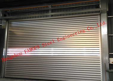 China Indoors PVC Fast Rapid Rise Door And Outdoors Hard Metal High Speed Rolling Shutter Door factory