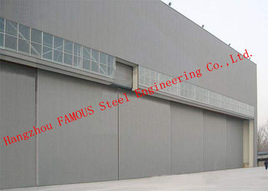 China Hydraulic / Electrical Aircraft Hanger Door And Aviation Building Airplane Bifold Doors Vertical Lifting Systems factory