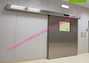 China Lightweight Stainless Sliding Door Smart Access System With Polyurethane Core Door Panel factory