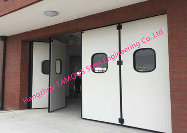 China Aluminum Seal Accordion Doors Multi Panels Hinged Industrial Garage Doors Folding For Warehouse factory