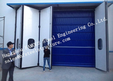 China Aesthetic Aluminum Alloy Industrial Garage Doors Folding For Warehouse , Simple Installation factory
