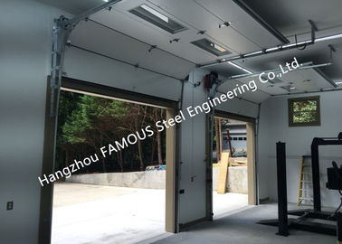 China Fast Action Lifting Doors With Slide Running Design Up Rising Commercial Track Doors factory