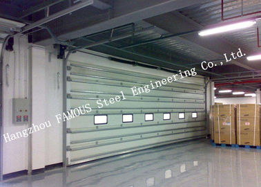 China Vertically Opening Transparent Industrial Garage Doors With Flexible Curtain Shutter Doors factory