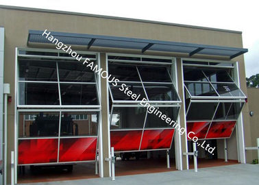 China Aluminum Frame Glass Industrial Garege Doors Vertical Rising Bi Fold Door With Remote Control factory