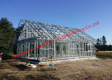 China Galvanized H - Beam Steel Structure Framing Systems For Workshop Or Villa House factory