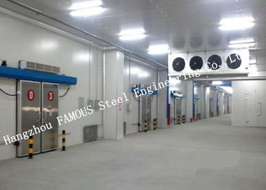 China Commercial PU Sandwich Cold Room Panel Walk In Freezer For Meat And Fish Storage factory