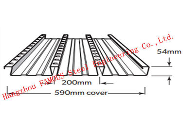 China Bondek Alternative Structural Steel Deck For Concrete Construction Formworks factory