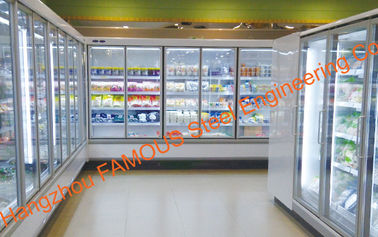 Narrow Aluminum Alloy Frame Glass Door For Display Cabinet Cold Room
