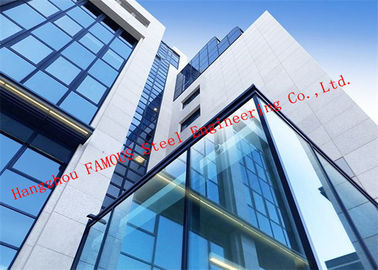 China Half Hidden Frame With Laminated Insulation Double Skin Glass Curtain Wall For Commercial Building factory