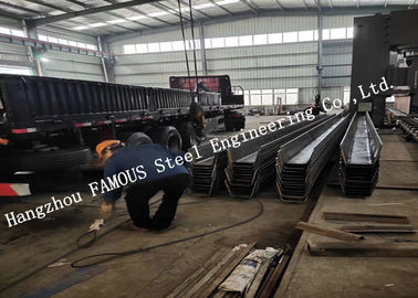 China Painted Hot Galvanized U Ribbed C Shaped Steel Profiles For Bridge Construction US EU Standard factory