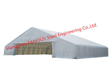 China Climbing Roof Type Metal Storage Tents Outdoor Windproof PVC Steel Framed Hangars CE Certified factory