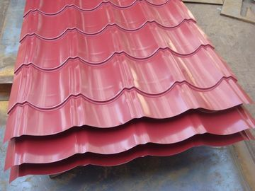 China AISI / ASTM / JIS Metal Roof Sheeting Steel Workshop Glazed Tile Shape factory