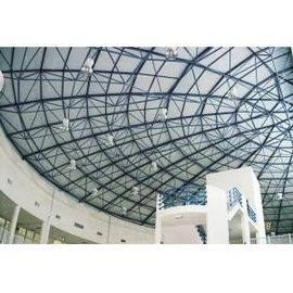 China Space Frame Pre-engineered Building With Cone , Bolted Spherical Ball / Hollow Ball factory