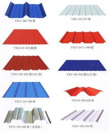 China Color Coated Metal Roofing Sheets Customzied For Steel Structure factory