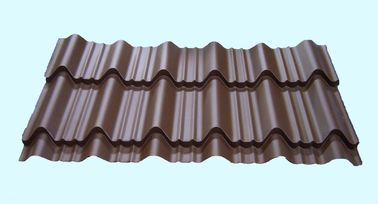 China Light Weight Metal Roofing Sheets Waterproof Glazed Tile Shaped factory