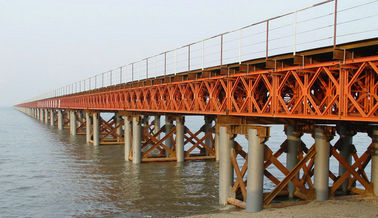 OEM / Custom Welding Modular Steel Bridge / Compact Prefabricated Bailey Bridge