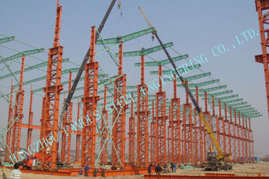 China Industrial ASTM Steel Framed Buildings , Prefab 75 X 120 Multipan Metal Buildings factory