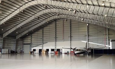 China Customized Prefabricated Steel Aircraft Hangars With 26 Gauge Steel Tiles factory