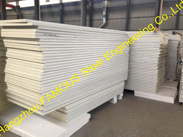 Metal Roofing Insulated Sandwich Panels Fireproof , 100mm -150mm Foam