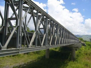 Electric Galvanized, Painting and Grinding prefabricated Structural Steel Bailey Bridge