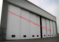 Multi Sector Structural Folded Hinged Sliding Doors Bottom Rolling Hangar Door Smart Track Design