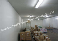 Commercial PU Sandwich Cold Room Panel Walk In Freezer For Meat And Fish Storage