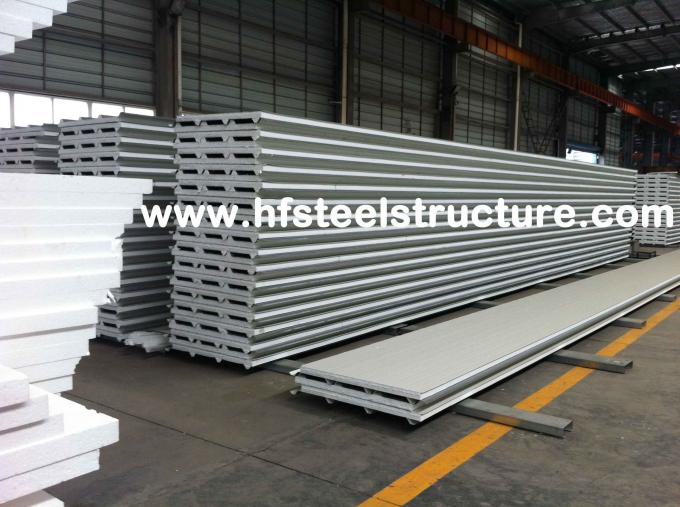 Color Steel Metal Roofing Sheets Sandwich Panel With 0.3 - 0.8mm Thickness